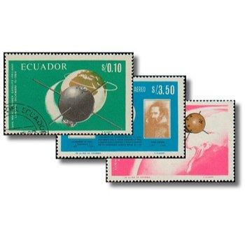 Italienische Erfolge in der Weltraumforschung - 3 Briefmarken gestempelt, Katalog-Nr. 1292-1294, Ecu
