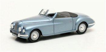 Modellauto:Bristol 402 DHC von 1949, blau-metallic(Matrix, 1:43)