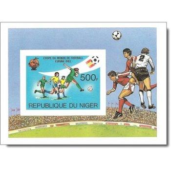 """Fußball-Weltmeisterschaft 1982, Spanien """"Probedruck"""" - Briefmarken-Block ungezähnt postfri"""