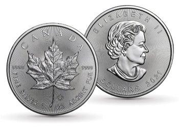 Maple Leaf - 5 Dollar Silbermünze 2021, Stempelglanz, Canada