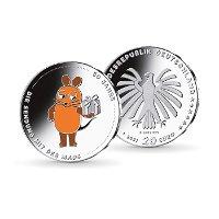 50 Jahre Die Sendung mit der Maus - 20 Euro Silbermünze 2021 ST, Deutschland
