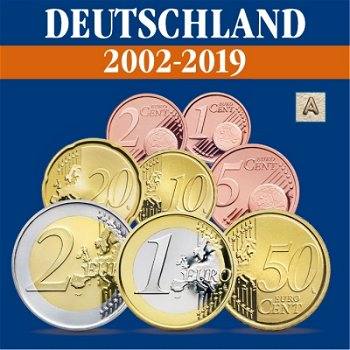 Deutschland - Kursmünzensätze alle Jahrgänge 2002-2019, Prägezeichen A