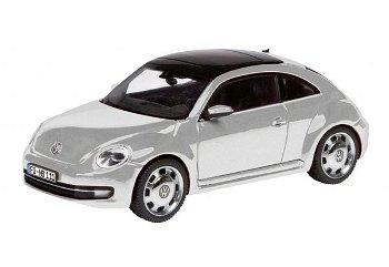 Modellauto:VW Beetle Coupé, reflexsilber(Schuco, 1:43)