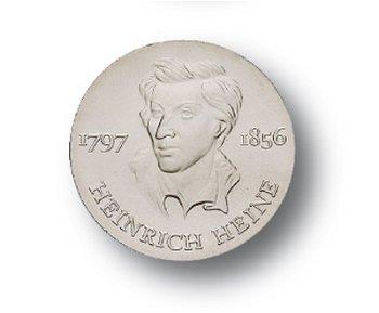 10-Mark-Münze 1972, 175 Geburtstag Heinrich Heine, DDR