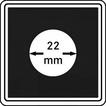 Münzkapseln CARRÉE 22 mm, 4er Pack, LI 2240022