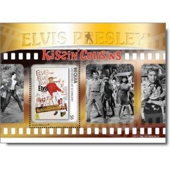 """Elvis Presley """"Kissin Cousins"""" - Briefmarken-Block postfrisch, St. Vincent und Grenadinen"""