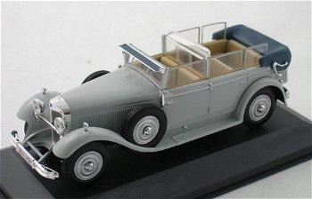 Modellauto:Mercedes-Benz Typ 770 Cabriolet Fvon 1930, grau(WhiteBox, 1:43)