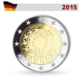 2 Euro Münze 2015, 30 Jahre Europaflagge, Deutschland