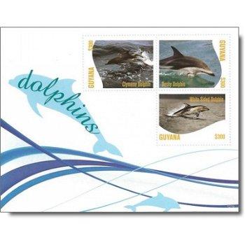 Delfine - Briefmarken-Block postfrisch, Guyana