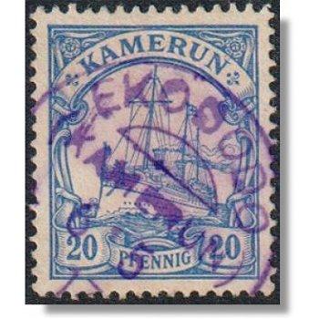 "Deutsche Kolonien Kamerun - Briefmarke gestempelt, Katalog-Nr. 10, Stempel ""EKODODO"""