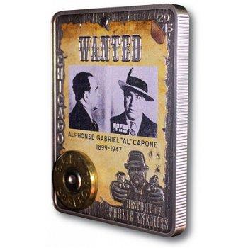 History of Public Enemies/Al Capone, Silbermünze mit Farbauflage, Zentralafrika