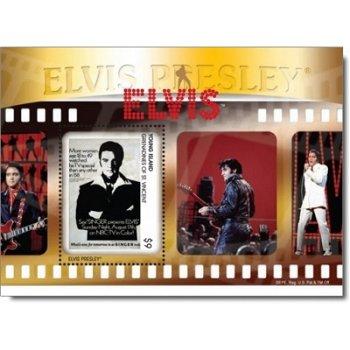 """Elvis Presley """"Elvis"""" - Briefmarken-Block postfrisch, St. Vincent und Grenadinen"""