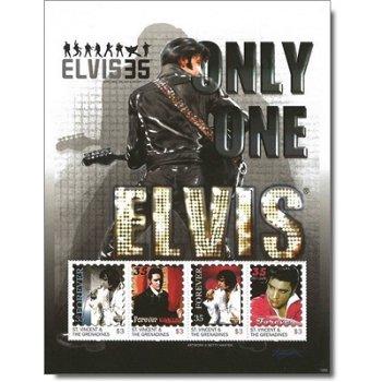 """Elvis Presley """"Only One"""" - Briefmarken-Block postfrisch, St. Vincent und Grenadinen"""
