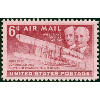 46 Jahre Motorflug - Briefmarke postfrisch, Katalog-Nr. 604, USA