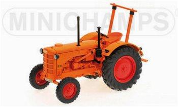 Modell-Traktor:Hanomag R 28 Ackerschlepper von 1953, orange(Minichamps, 1:18)