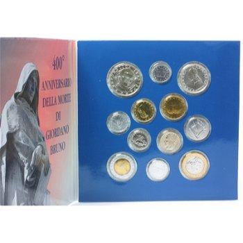 Kursmünzensatz 2000 Stempelglanz/Giordano Bruno, Italien