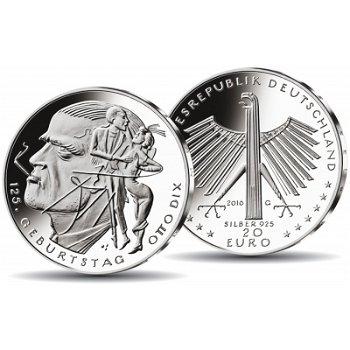125. Geburtstag Otto Dix, 20 Euro Silbermünze Polierte Platte, Deutschland