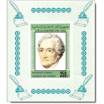 150. Todestag von Johann Wolfgang von Goethe - 2 Luxusblocks postfrisch, Katalog-Nr. 657-658, Komore