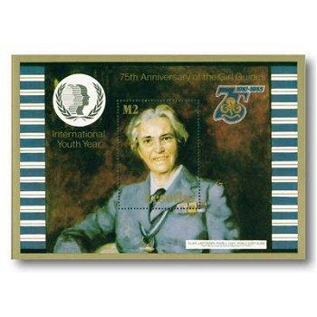 75 Jahre Pfadfinderinnen - Briefmarken-Block postfrisch, Lesotho