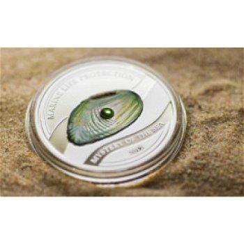 """5-Dollar-Silbermünze """"Süßwasser-Perlen"""", Palau"""