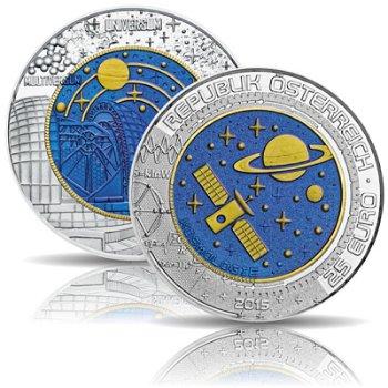 Kosmologie, 25 Euro Niobmünze 2015, Österreich