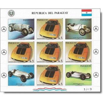 Rennwagen - Briefmarken-Kleinbogen postfrisch, Katalog-Nr. 3592, Paraguay