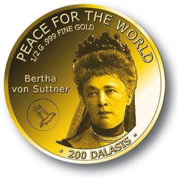 Bertha von Suttner, Goldmünze Gambia