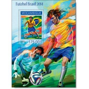 Fußball-Weltmeisterschaft - Briefmarken-Block postfrisch, Mocambique