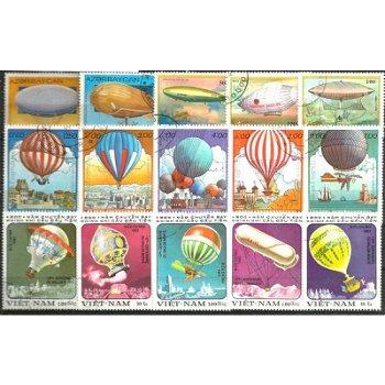 Zeppeline und Ballone - 50 verschiedene Briefmarken