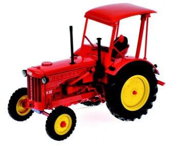 Modell-Traktor:Hanomag R35 Ackerschlepper mit Dach von 1955, rot(Minichamps, 1:18)