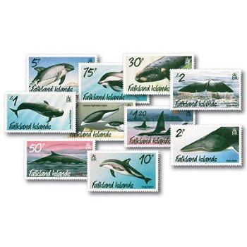 Wale - 10 Briefmarken postfrisch, Falkland Inseln