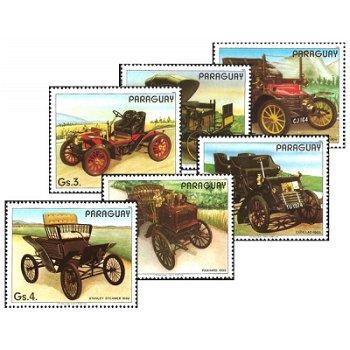 Historische Autos - 6 Briefmarken postfrisch, Katalog-Nr. 3965-3970, Paraguay