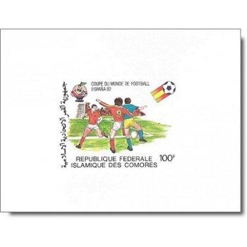 "Fußball-Weltmeisterschaft 1982 ""Kartonpapier"" - 5 Luxusblocks postfrisch, Katalog-Nr. 614-"