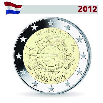 2 Euro Münze 2012, 10 Jahre Euro, Niederlande
