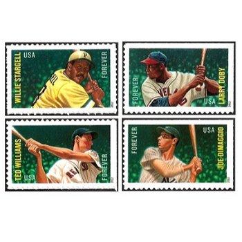 Baseball All-Stars - 4 Postage Stamps Mint, USA