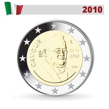 Camillo Benso Graf von Cavour, 2 Euro Münze 2010, Italien