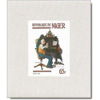 Gemälde von Norman Rockwell - 4 Luxusblocks postfrisch, Katalog-Nr. 809-812, Niger