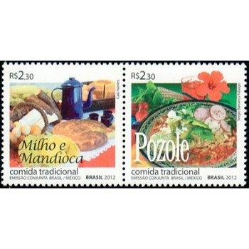 Traditionelle Gerichte - 2 Briefmarken postfrisch, Brasilien