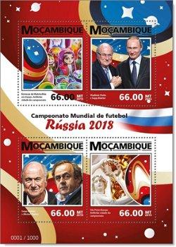 Fußball Weltmeisterschaft - Briefmarkenblock postfrisch, Mocambique