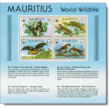 """Weltweiter Naturschutz """"Bedrohte Tiere"""" - Briefmarken-Block Nr. 8, Katalog-Nr. 463-466, po"""