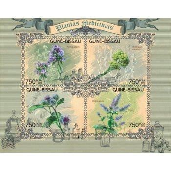 Heilpflanzen - Briefmarken-Block postfrisch, Katalog-Nr. 6195 - 6198, Guinea-Bissau