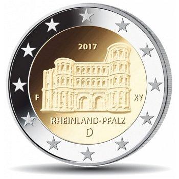 Porta Nigra in Trier / Rheinland-Pfalz, 2 Euro Münze 2017, Deutschland, 1 Prägezeichen