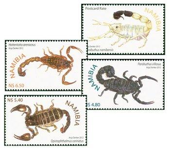 Skorpione von Namibia - 4 Briefmarken postfrisch, Namibia