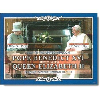 Besuch von Papst Benedikt XVI. in Großbritannien - Briefmarken-Block postfrisch, Grenada