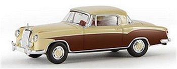 Modellauto:Mercedes-Benz 220 S Coupé (W 180 II), elfenbein/braun(Brekina, 1:87)
