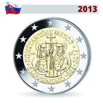 2 Euro Münze 2013, 1150. Jahrestag der Byzan. Mission durch Kyrill und Method, Slowakei