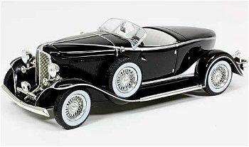 Modellauto:Auburn Boat Tail Roadster von 1933, silber-schwarz(IXO Museum, 1:43)