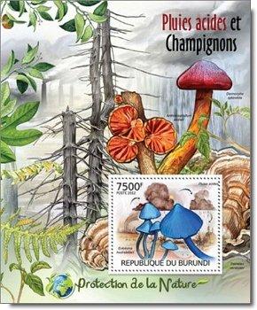 Pilze - Briefmarken-Block postfrisch, Burundi