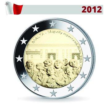 2 Euro Münze 2012, Mehrheitswahlrecht von 1887, Malta