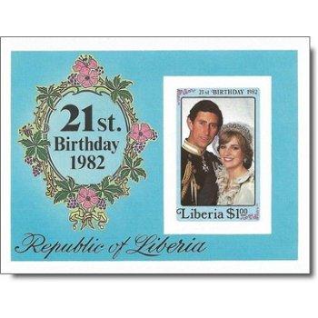 Geburt von Prinz William - Briefmarken-Block postfrisch, ungezähnt, Katalog-Nr. 1266 Bl. 103, Liberi
